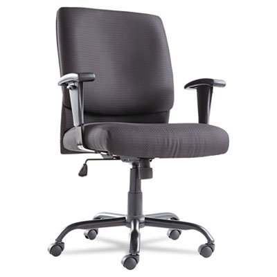 Big and Tall Swivel/Tilt Mid-Back Chair, Height Adjustable T-Bar Arms, Black, Sold as 2 (Height Adjustable T-bar Arms)