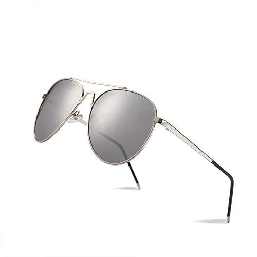 PASISIBICK Polarized Aviator Sunglasses for Unisex UV400 Protection-Gray mercury