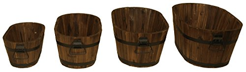 Wood Oval Planter - Devault Wood Oval Planter (Set of 4)