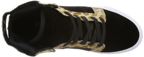 Damen SW18025 WOMENS Schwarz White Cheetah Black Sneaker Supra Bct SKYTOP qPfxW7Op