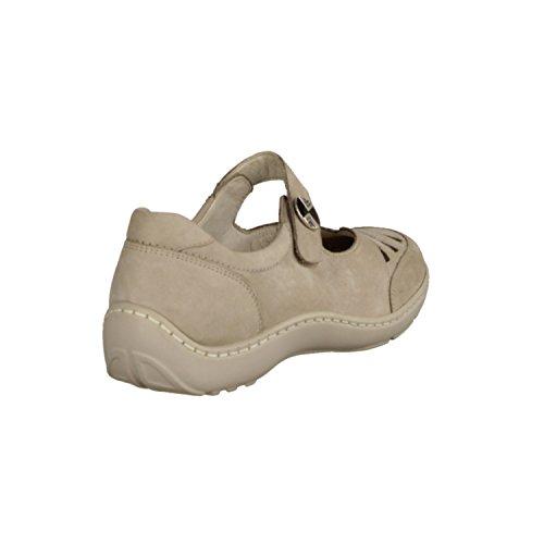 Waldläufer - Zapatos de cordones de cuero para mujer beige beige