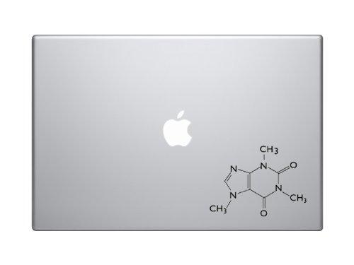 "Caffeine Molecule Molecular Model - 5"" Black Vinyl Decal Sti"