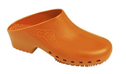 Zoccolo Calzuro Autoclavabile Senza Ventilazione Superiore Arancione