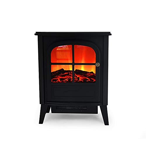 Cheap 1900W Electric Fireplace Portable Electric Stove Heater with Realistic Log Fire Flame Effect Adjustable Thermostat Overheat Protection Suitable for Living Room Bedroom Study Black Friday & Cyber Monday 2019