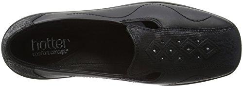 Hotter Damen Calypso Slipper, 37.5 EU Black (Black Snake)