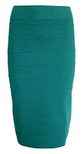 Esteez Stretchy Pencil Skirt for Women Opaque Lightweight Slimfit Blue Martini Small/Medium