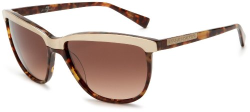 7 For All Mankind Fairfax Sunglasses,Tortoise Frame/Brown Gradient Lens,one - 7 Frames For Mankind All