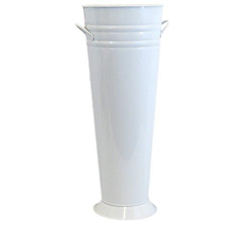 Large White Enamel French Bucket