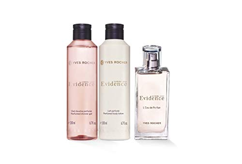 Yves Rocher Comme une Evidence Perfume 3-piece Gift Set Comme une Evidence Eau de Perfume, 50 ml, Perfumed Body Lotion, 200 ml Shower Gel, 200 ml.