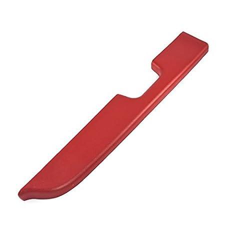 1987-1993 Mustang Red Door Arm Rest Pad for Power Windows - Left Driver Side - Mustang Door Armrest Pad