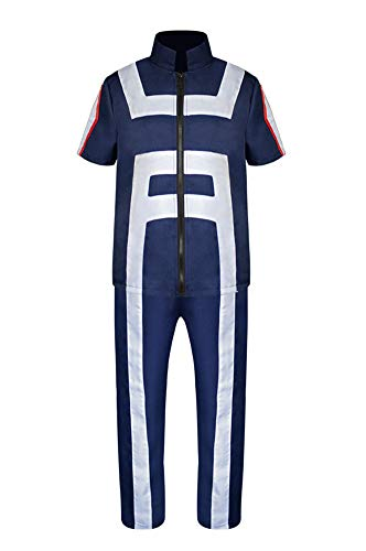 Wish Costume Shop My Hero Academia Todoroki Shoto Cosplay Costume (XXL, Blue) (Best Cosplay Costume Shop)