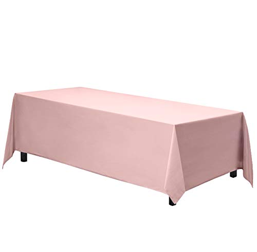 Gee Di Moda Rectangle Tablecloth - 70 x 120 Inch - Pink Rectangular Table Cloth in Washable Polyester - Great for Buffet Table, Parties, Holiday Dinner, Wedding & More (Pink Baby Cloths Table)
