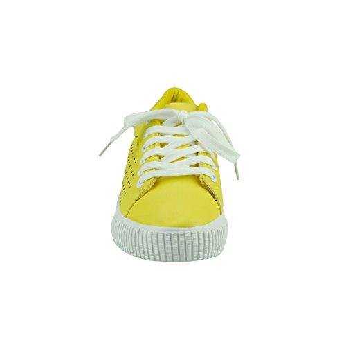 20031 Sneakers low Sportschuhe Sommerschuhe Schnürschuhe Gelb Damen Fashion4Young ZwrqAZ6