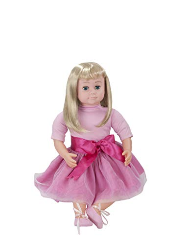 "Ask Amy 22"" Talking Interactive Singing Storytelling Smart Educational Doll Blond Pink Dress"