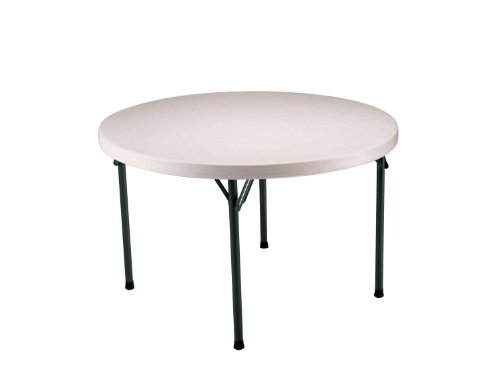 Lifetime 22968 Commercial Folding Round Table, 46 Inch, Almond by Lifetime
