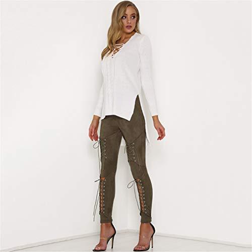 LnLyin Jeans Stretch Hose Zerrissen High Waist Jeanshose