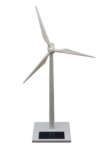 FatCat FCP1052 White Solar Rechargeable Desktop Wind Turbine