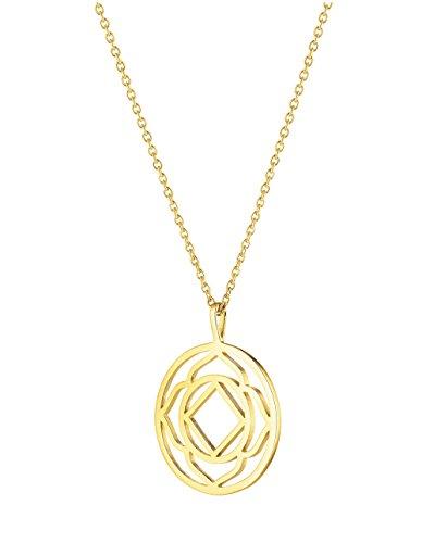 Daisy Gold Plated Base Chakra Short Necklace