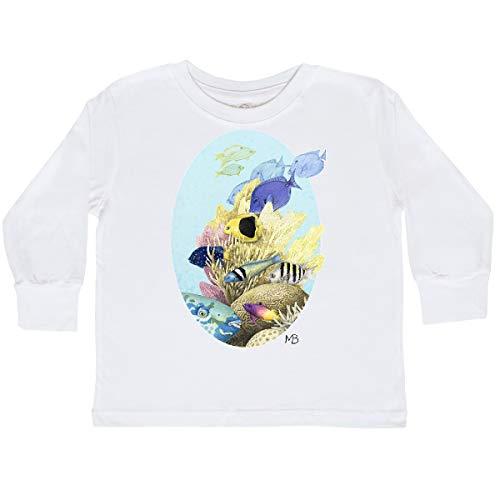 inktastic Ocean Egg Toddler Long Sleeve T-Shirt 4T White - Marjolein Bastin