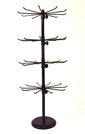 40 Tier Spinner 400 Hook Rotating Counter Display Stand BLACK J40B New Spinner Display Stands