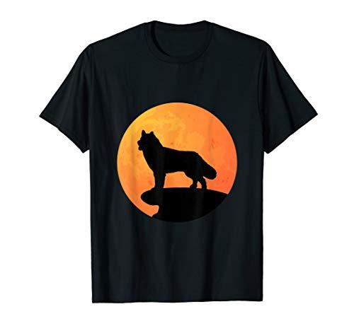 Siberian Husky Halloween Costume Dog Owner Moon T-Shirt ()