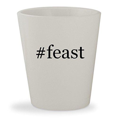 #feast - White Hashtag Ceramic 1.5oz Shot Glass - Nigella Lawson Ceramic