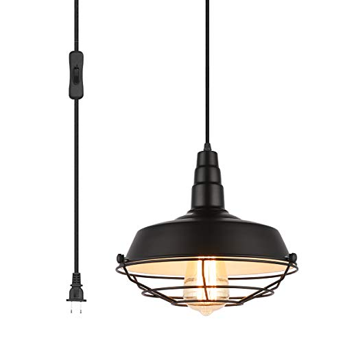 Lamp Hanging Light Fixture - Pendant Light with Plug in 15Ft