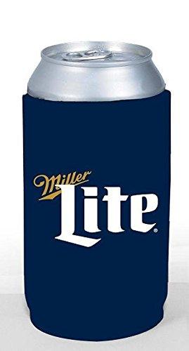 - Miller Lite 16oz Beer Can Cooler Holder Kaddy Coolie Huggie Pounder Navy