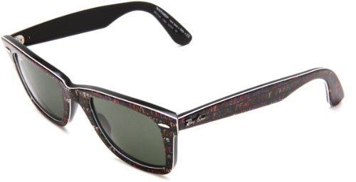 Ray-Ban 0RB2140 Original Wayfarer Sunglasses, Top Texture on Black, 50mm (Ray-ban Rb2140 50 Original Wayfarer)