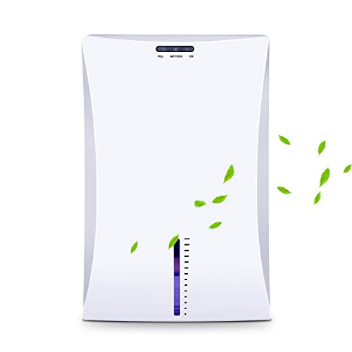 LATITOP Small Dehumidifier Electric Home Dehumidifier with 2L 42 Pints Water Tank High Humidity