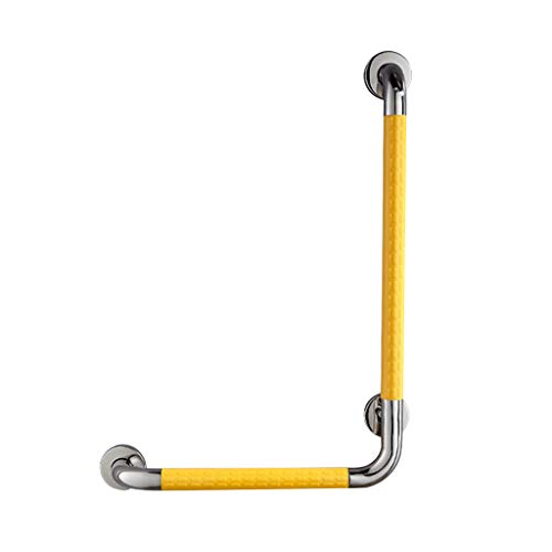 Bath & Shower Grab Bars Bathroom L-Shaped Handrail Toilet Bathroom Elderly Disabled Handrail Yellow White for The Elderly (Color : Yellow, Size : 50cm70cm)