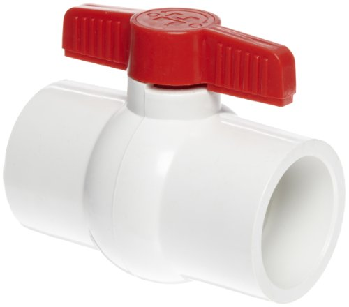 Hayward QVC1020SSEW Series QVC Compact Ball Valve, Socket End, White, 2