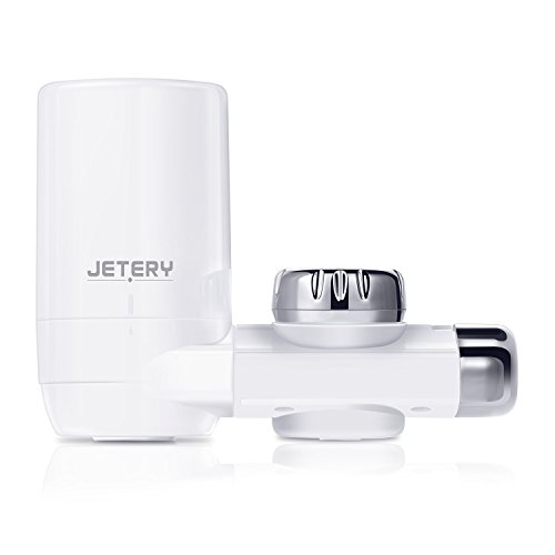 JETERY Faucet Water Filter - 320-Gallon Long-Lasting Tap Water Filtration System with Carbon Fiber Filter for Home Kitchen, Fits Standard Faucets, JT-5110 (Faucet Pur Mount Ultimate)