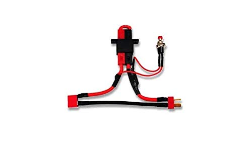 No-Spark Hi Current Battery Arming Switch with Dean's Ultra Connectors- Safely Arm & Disarm your RC ()