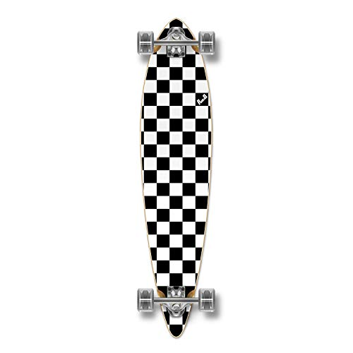 Yocaher Special Graphic Complete Longboard Pintail Skateboard w/ 70mm Wheels (Checker ()