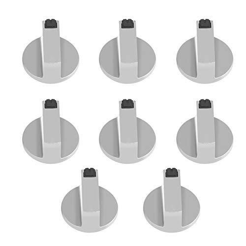 Kit Knob Range Gas - Stove Knob, 6mm Zinc Alloy Control Knob Oven Switch Universal Silver Gas Stove Control Knobs for Oven Cooktop Gas Stove 8pcs