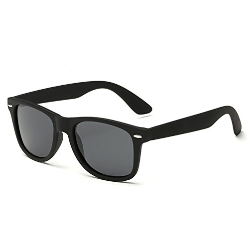 Joopin Unisex Polarized Sunglasses Classic Men Retro UV400 Brand Designer Sun glasses (Black, Simple packaging) (Sunglasses For Men Square)