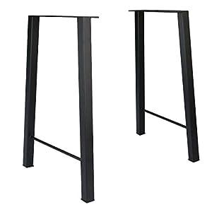 Tengchang 28'' Industry Dinner Table Leg Metal Steel Bench Legs DIY Furniture