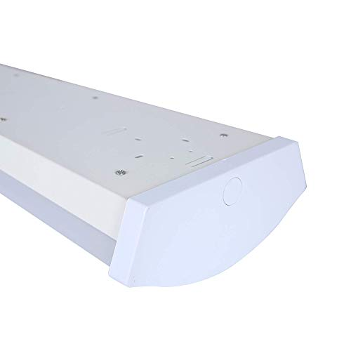Zip-LED 4Ft Linear Wrap Batten 4' in White and Opal, 52W 4000K Natural White 5,460 Lumen, 0-10V Dimmable, Dry Location IP20