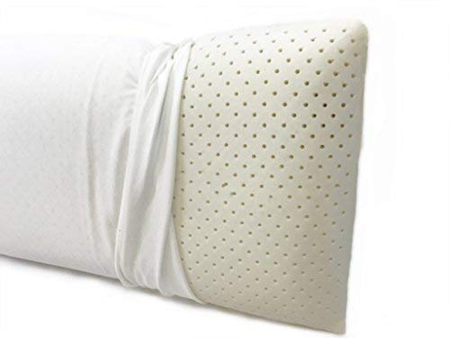 OrganicTextiles Talalay Natural Latex Pillow, Extra Soft Firmness, Eco-Friendly, Hypoallergenic & Toxic Free with Organic Cotton Zipper Pillow Cover Protector for Extended Durability, (Standard)
