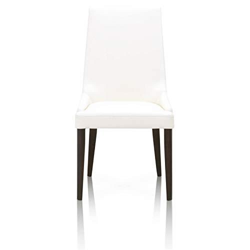 Star International Furniture 5131.ALA/DW Aurora Dining Chair Alabaster White, Espresso