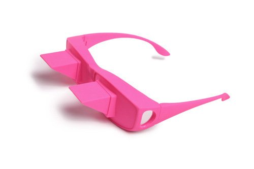 Horizontal High Definition Lazy Glasses Lying Down Bed Reading Watching Prism Glasses Refraction Eye Glasses with 90 °Angle or Bed Prism Spectacles Lazy Reders Great Gift for Friends (Pink)