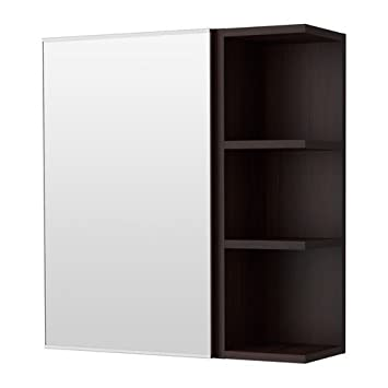 IKEA LILLÅNGEN Spiegelschrank mit einer Tür und einem Abschlussregal ...