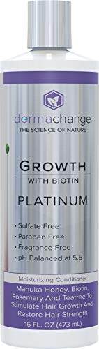 Platinum Hair Growth Moisturizing Conditioner - With Argan Oil, Biotin & Tea Tree Extract - Supports Hair Regrowth - Hair Loss Treatments (16 oz) - Made in USA