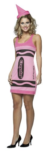 Crayola Crayon Tank Dress Costumes (Crayola Crayon Tank Dress Teen/Junior Costume Tickle Me Pink - Teen)