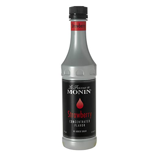 Monin Strawberry Flavor Concentrate 375ml Bottle