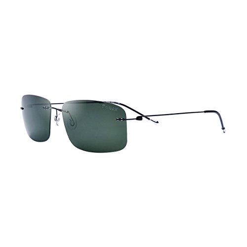 FONEX Male Screwless Titanium Alloy Polarized Sunglasses Female Square Sun Glasses for Men 8203 (Dark Green, - Eyewear Screwless