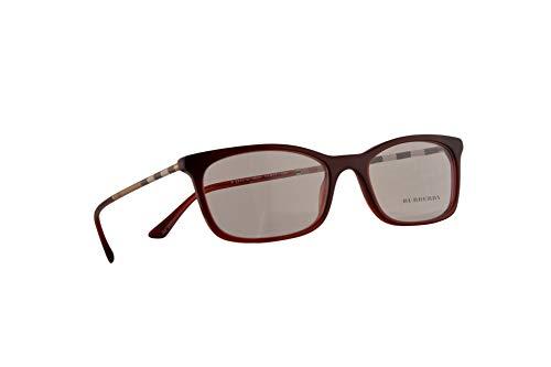 Burberry B 2243-Q Eyeglasses 51-17-140 Bordeaux Gradient w/Demo Clear Lens 3625 BE BE2243 ()