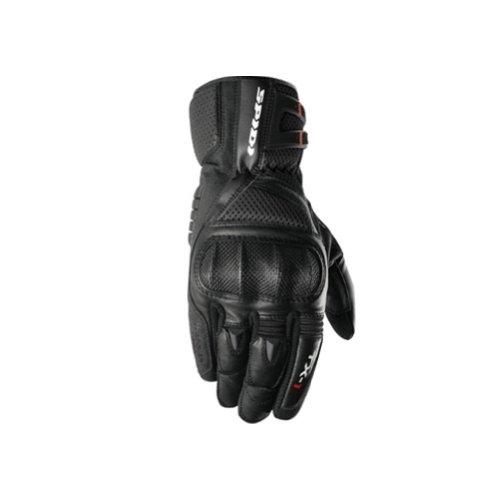 Spidi TX-1 Men's Leather Bike Racing Motorcycle Gloves - Black / Medium