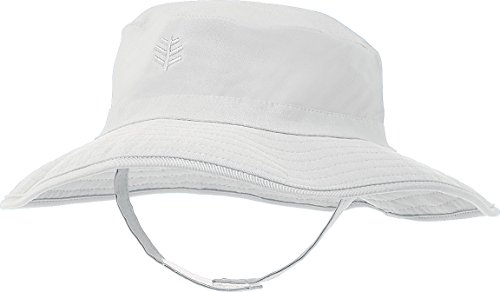 Play Brim Hat (Coolibar UPF 50+ Baby Splashy Bucket Hat - Sun Protective (2T-3T- White))